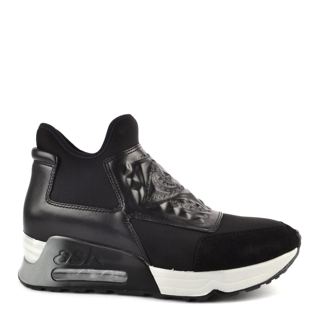 fcc7bdb7666a30 Buy Ash Footwear Lazer Goth Trainers in Black Leather Online Today