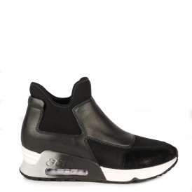 LAZER Trainers Black Suede & Leather