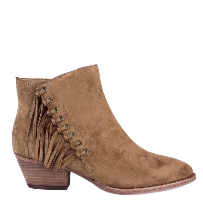 Ash LENNY Fringed Boots Russet Suede