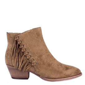 LENNY Fringed Boots Russet Suede