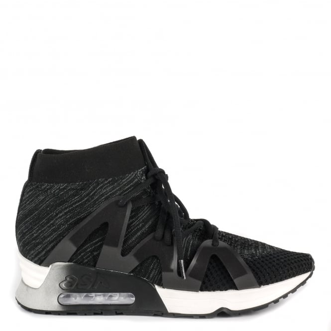 Ash LIANNA Trainers Black & Dark Grey Stretch Mesh