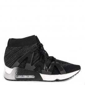 LIANNA Trainers Black & Dark Grey Stretch Mesh