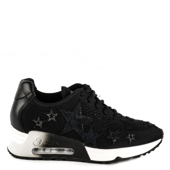 Ash LUCKY STAR Trainers Black Knit With Star Applique