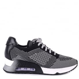 LUCKY Trainers Marble & Black Knit