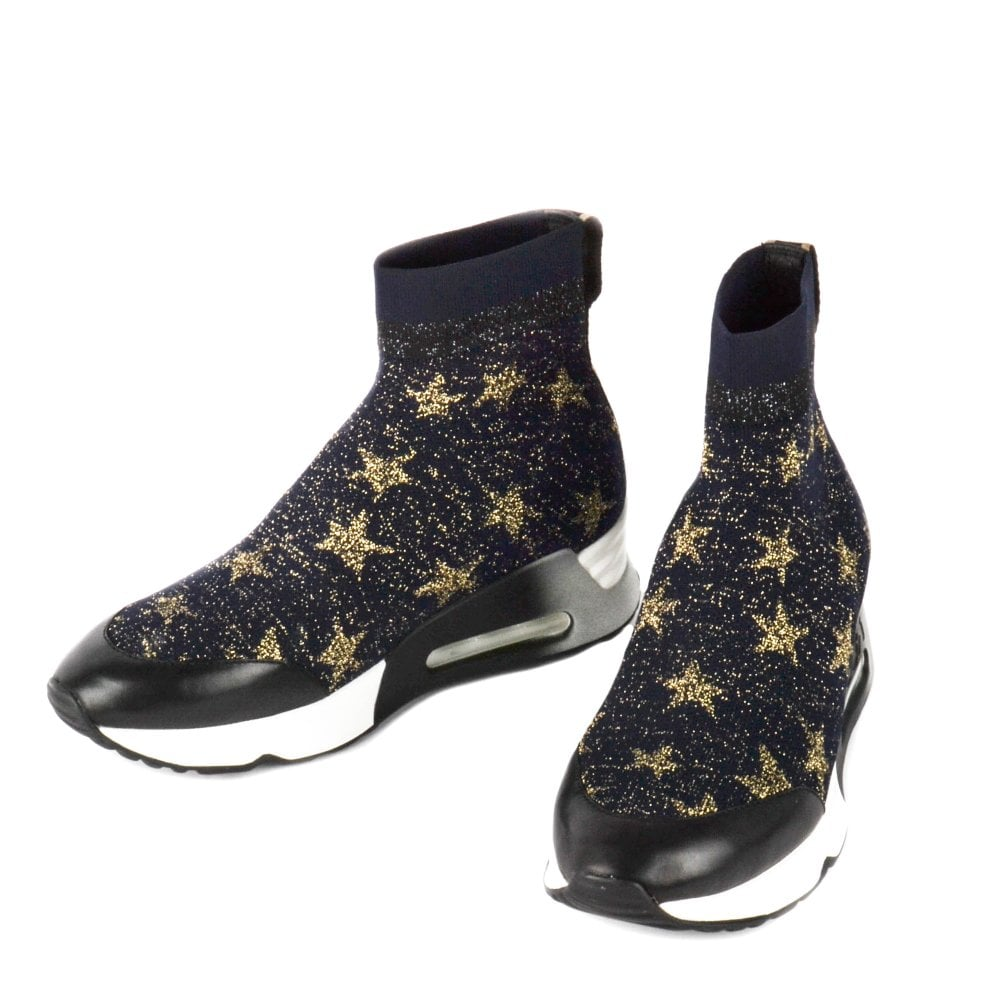 Ash Lulla Star Black \u0026 Gold Knit