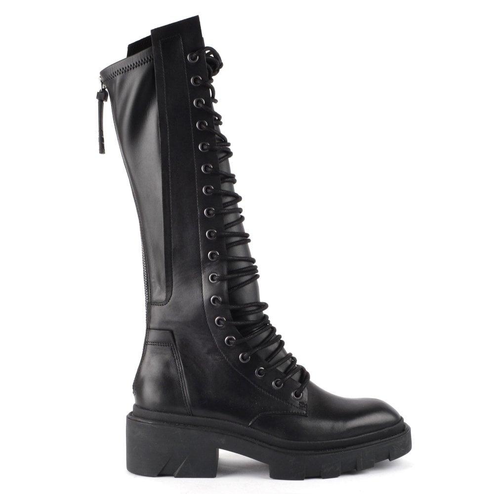 Ash Madmax Women S Black Lace Biker Boots Ash Uk Official Site
