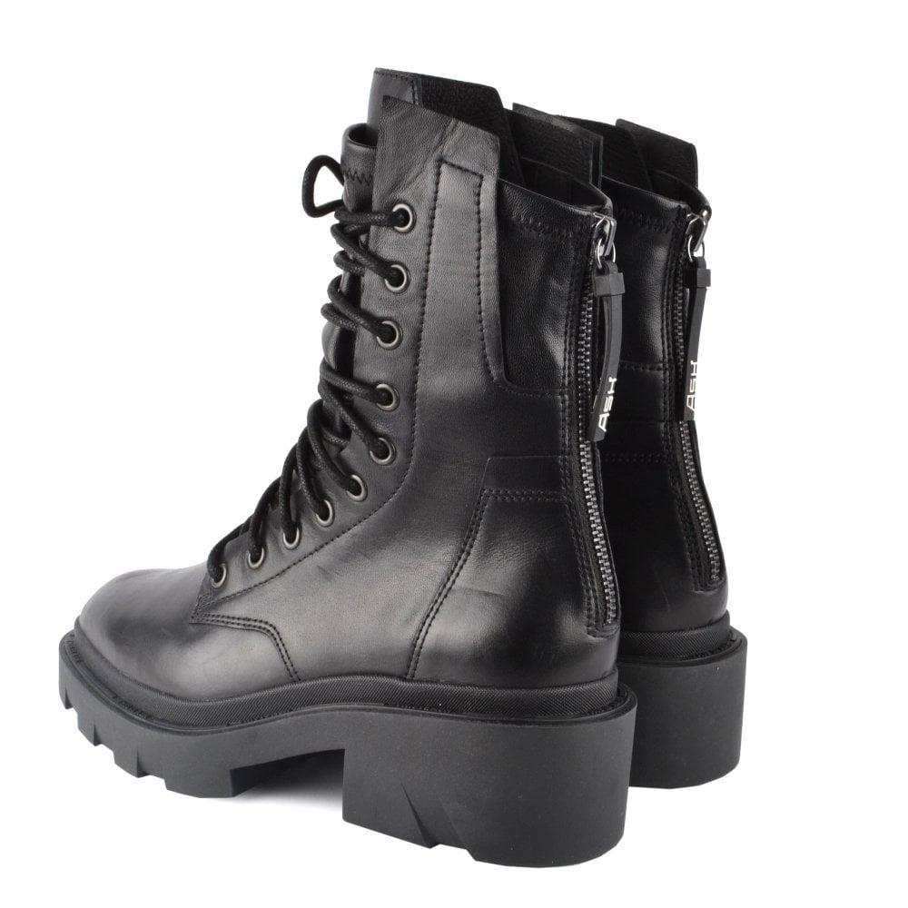 MADNESS Biker Boots Black Leather