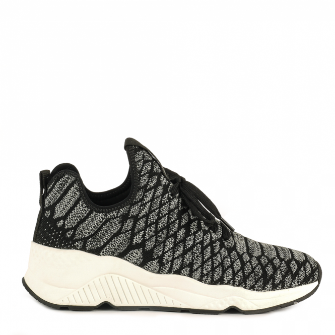 Ash MAGMA Trainers Black & Grey Knit