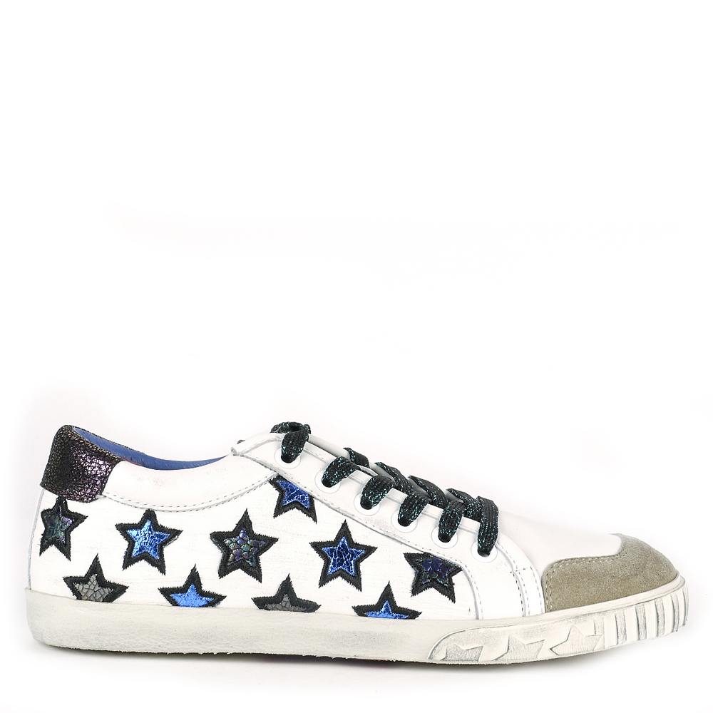 MAJESTIC Star Motif Trainers White Leather