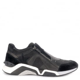 Men's HEROE Trainers Black Suede & Leather