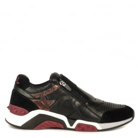 Men's HEROE Trainers Black Suede & Tejus Leather
