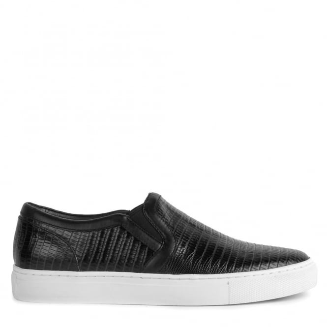 Ash Men's LENNON Trainers Black Tejus Leather