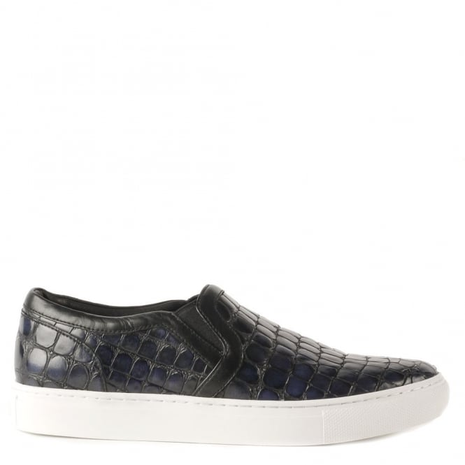 Ash Men's LENNON Trainers Indigo Congo Embossed Leather