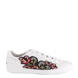 Men's NEXUS Embroidered Trainers White Leather