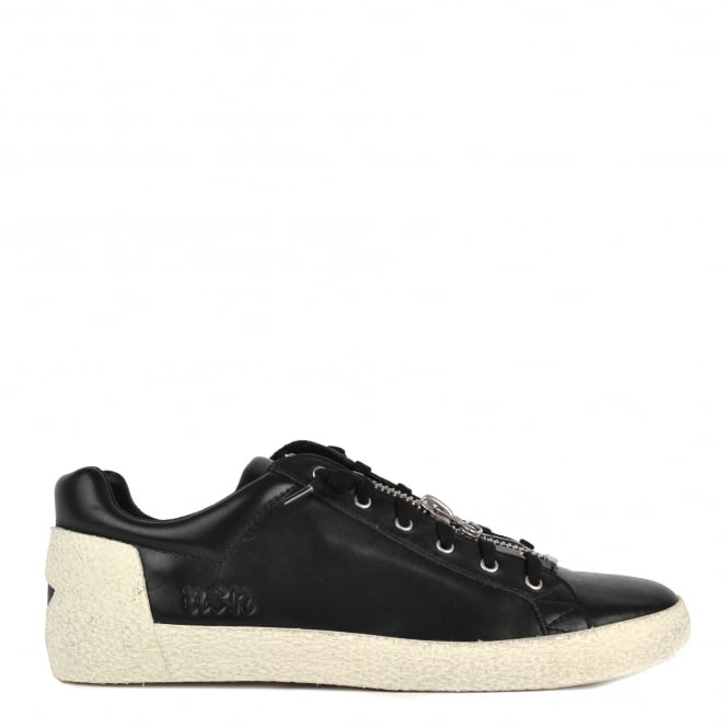 Ash Men's NILO Trainers Black Leather With Zip Detail
