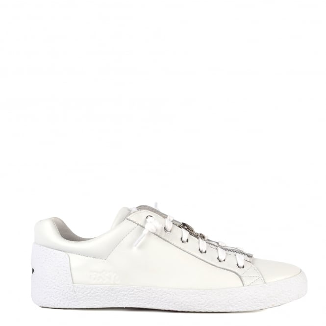Ash Men's NILO Trainers White Leather With Zip Detail