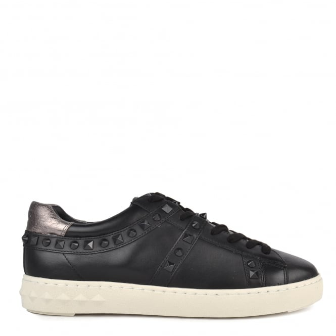 Ash Men's PODIUM Trainers Black & Gunmetal Leather