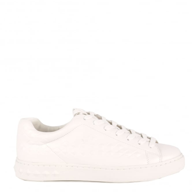 Ash Men's POWER Embossed Trainers White Leather