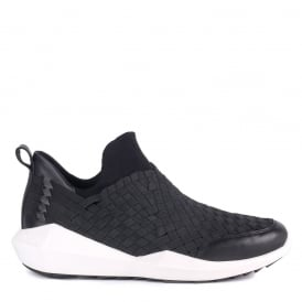 Mens QUINCY Trainers Woven Black