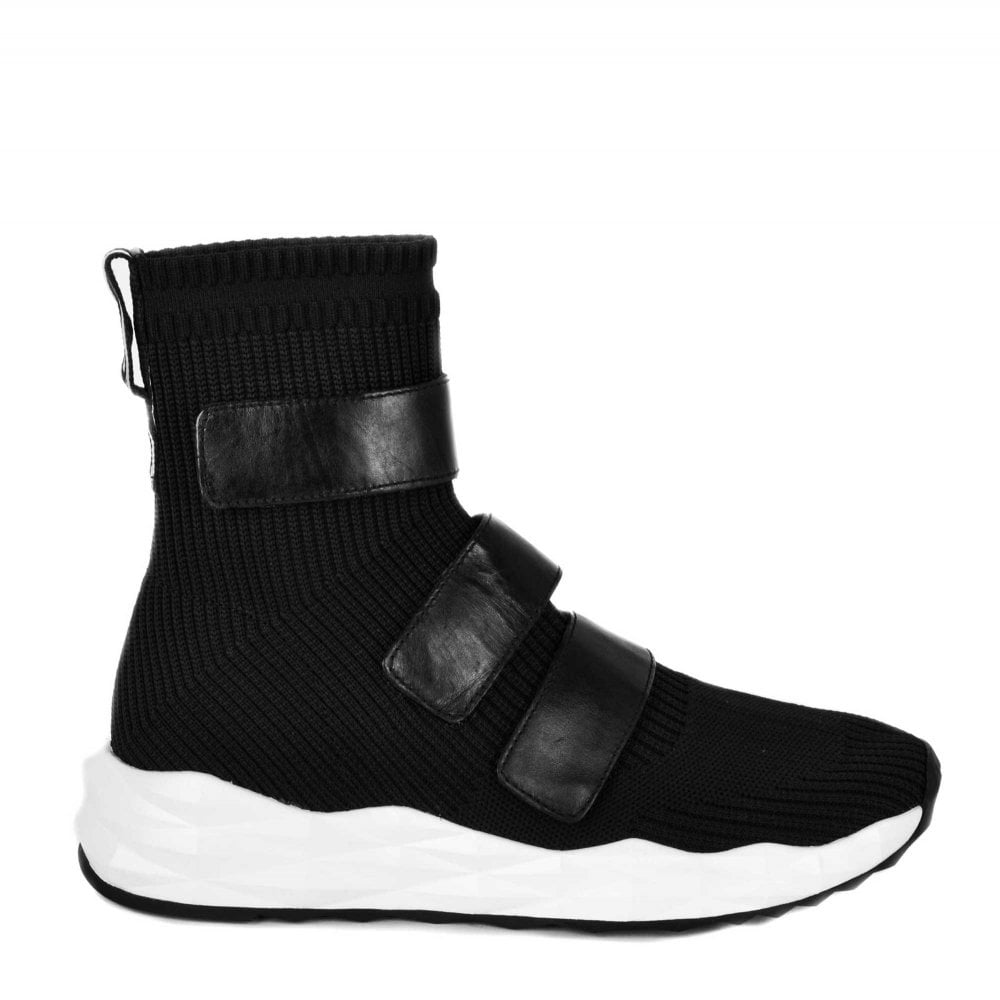 Scott Black Knit \u0026 Velcro Sneakers