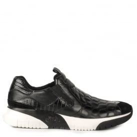 Men's STEP Trainers Black Congo Leather