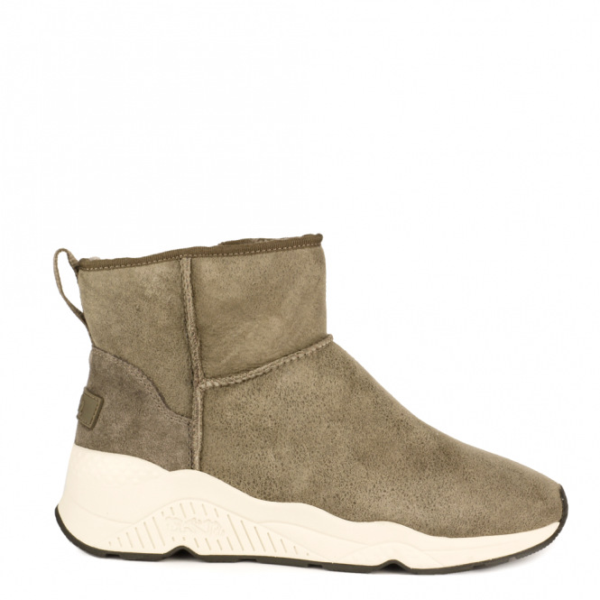 Ash MIKO Boots Topo Suede & Grey Fur Lining