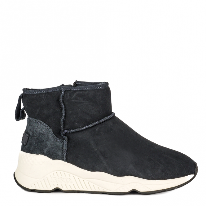 Ash MIKO Shearling Boots Midnight Suede