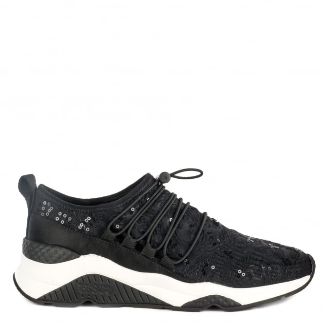 Ash MISS RETE Trainers Black Lace & Satin