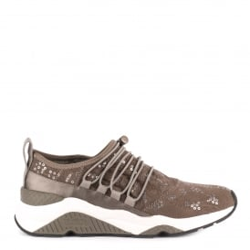 MISS RETE Trainers Taupe Satin