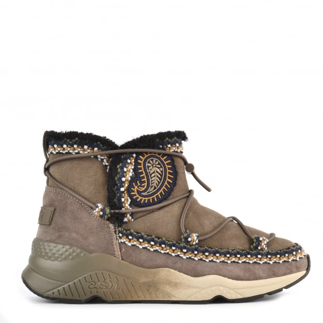 Ash MITSOUKO ETNIC Embroidered Boots Topo Suede