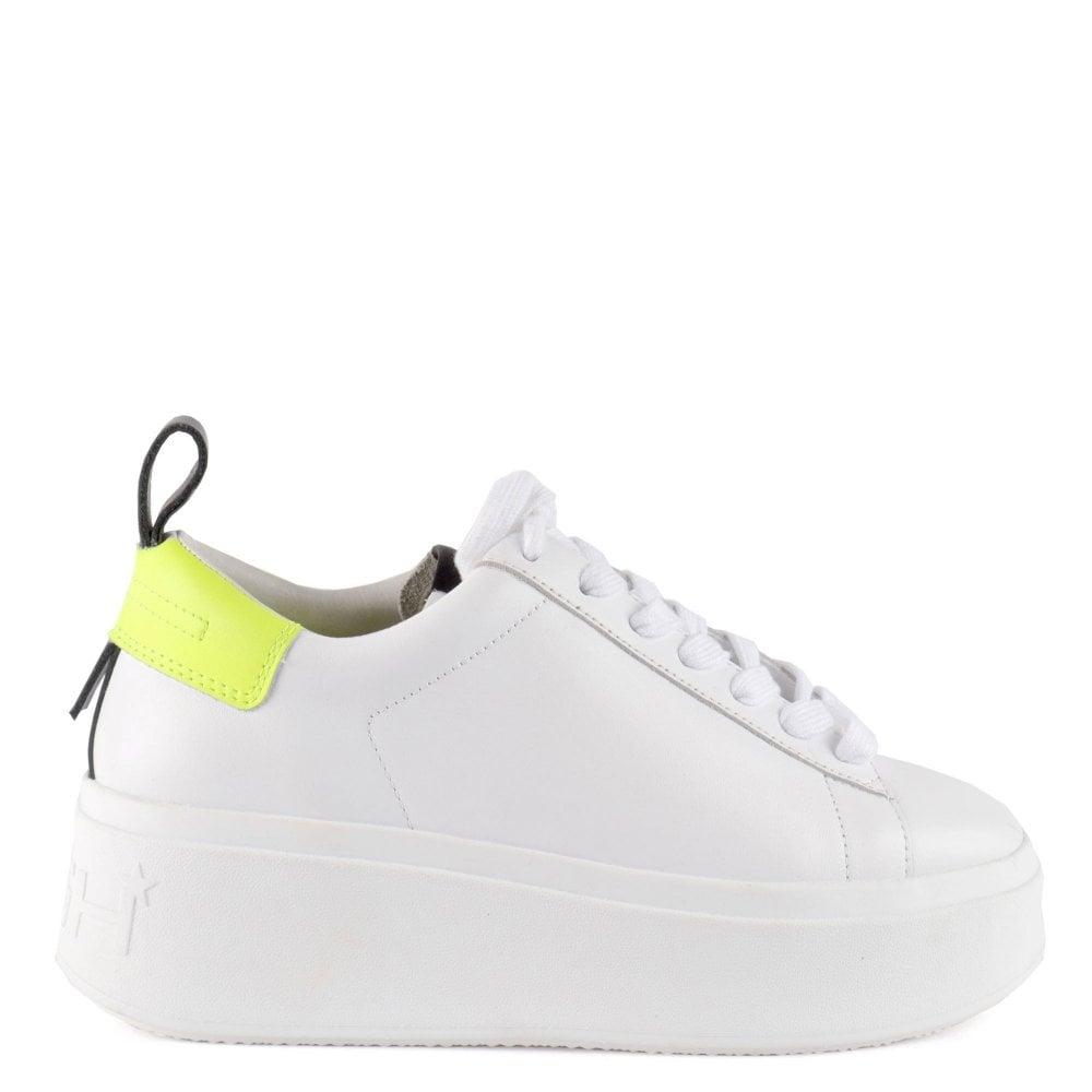 white leather platform trainers uk