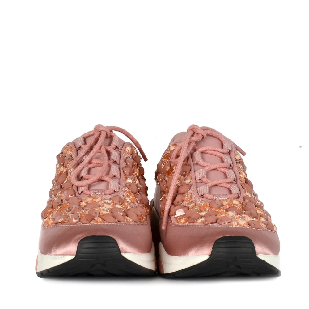 ee2aea61c9fd0 Ash Muse Stone Trainers In Blush Pink Up To 50% OFF At Ash Footwear UK