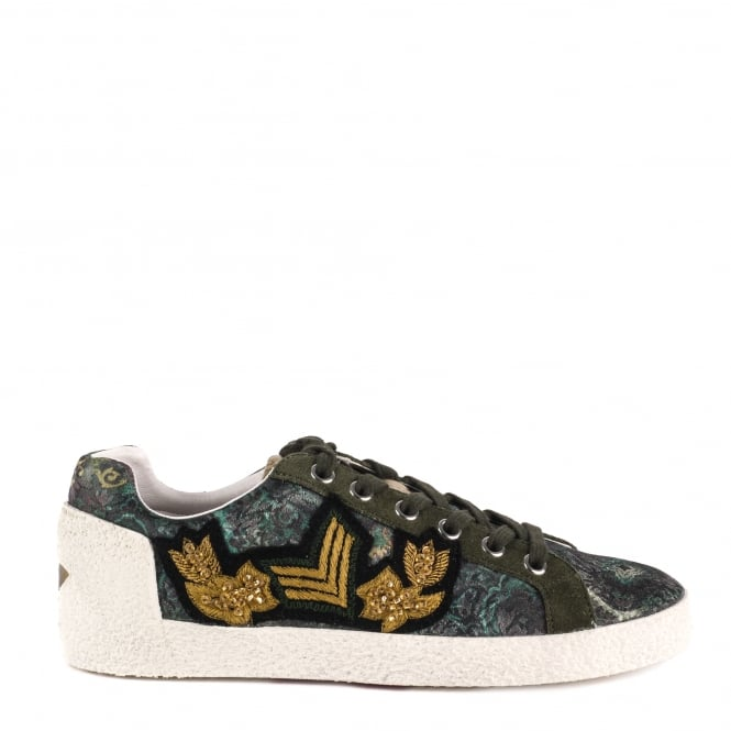 Ash NAK ARMS Trainers Military Green Printed Satin