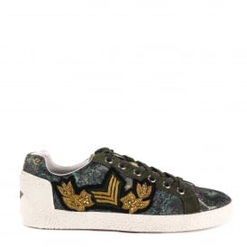 NAK ARMS Trainers Military Green Printed Satin