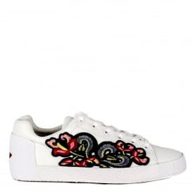 NAK Embroidered Trainers White Leather
