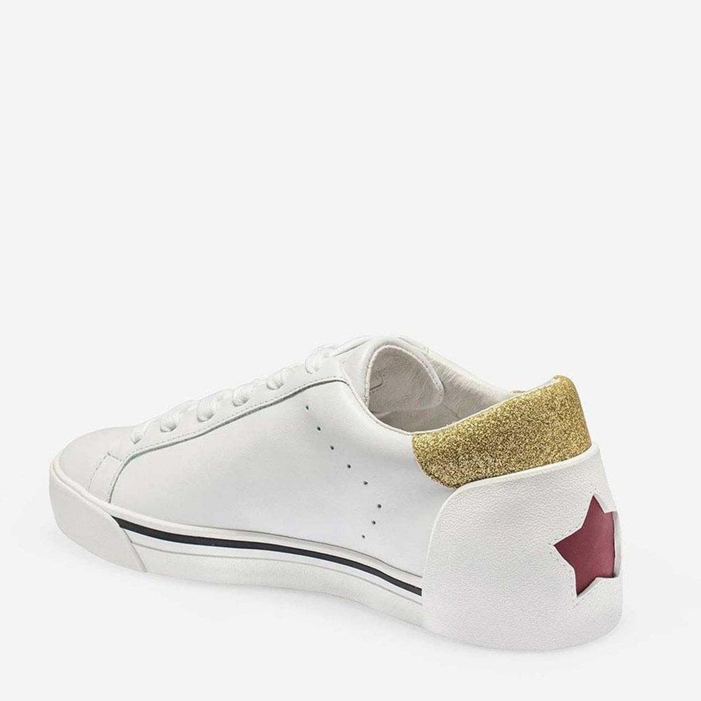 White Leather \u0026 Glitter Sneakers