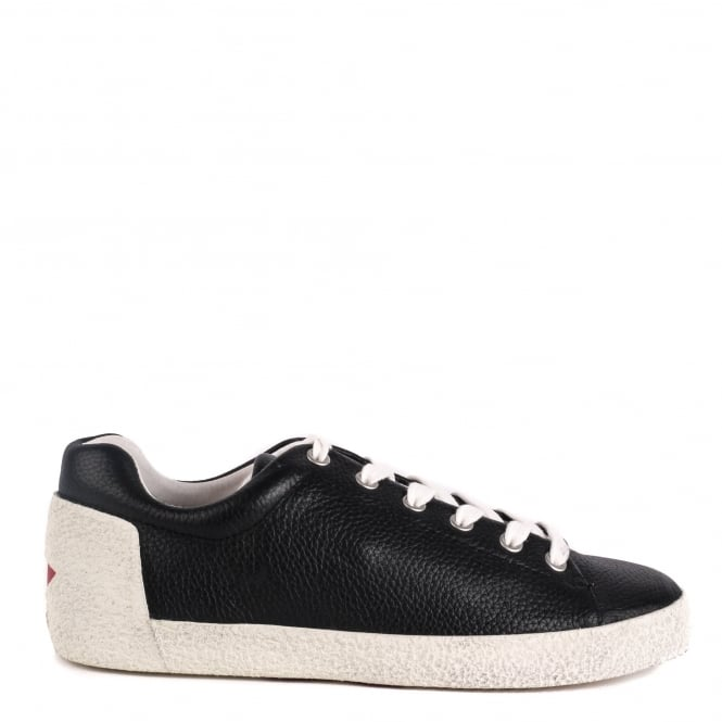 Ash NICKY Trainers Black Textured Leather