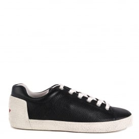 NICKY Trainers Black Textured Leather