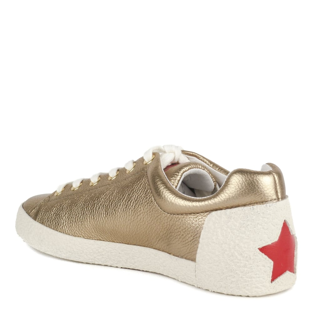 4fa255c9e7319 Shop Ash Footwear - Nicky Gold Leather Trainers Are Online Today