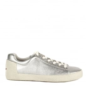NICKY Trainers Silver Textured Leather