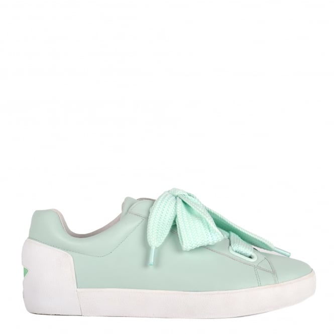 Ash NINA Trainers Mint Leather & Chunky Knit Lace