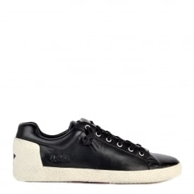 NIRVANA Trainers Black Leather With Zip Detail