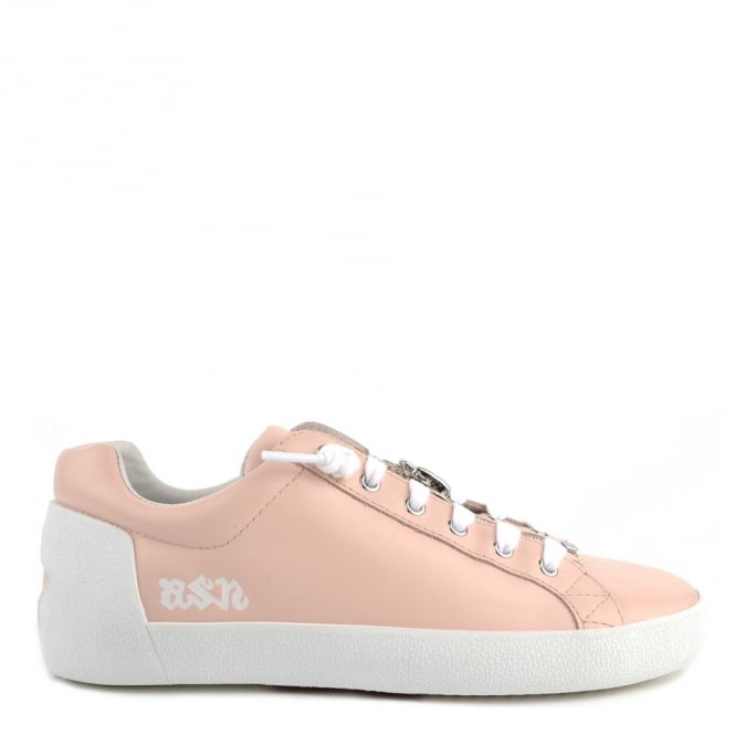 Ash NIRVANA Trainers Nude Leather With Zip Detail