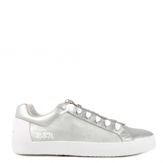 Ash NIRVANA Trainers Silver Leather With Zip Detail