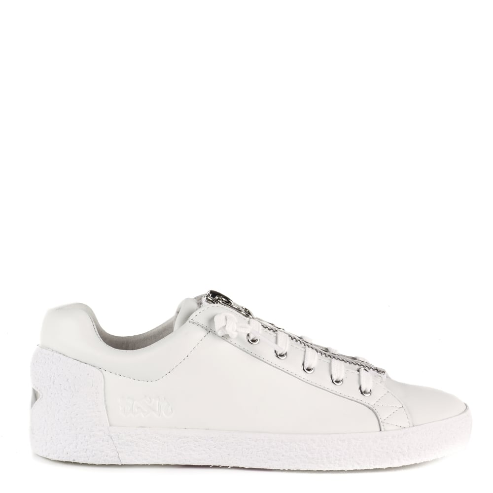 Ash NIRVANA Trainers White Leather With Zip Detail