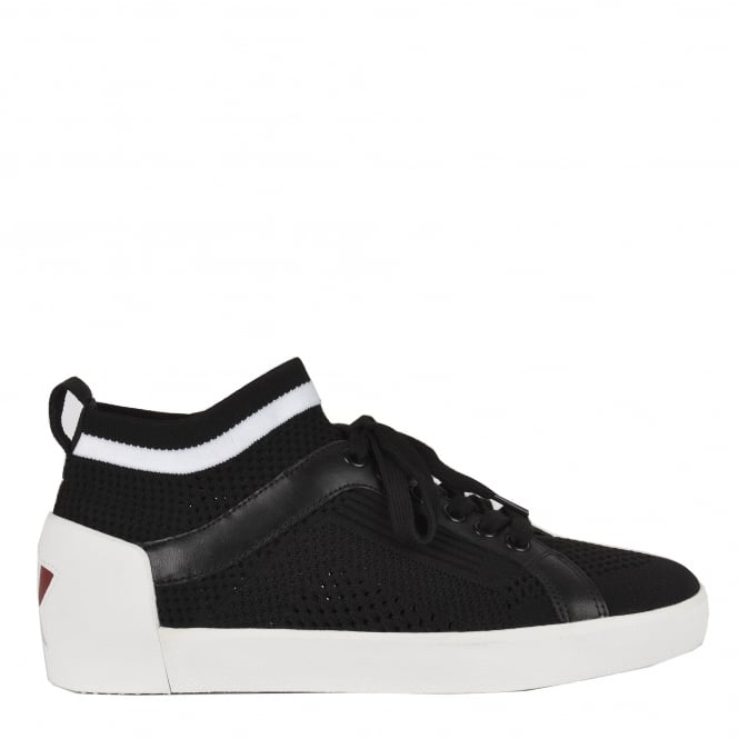 Ash NOLITA Sock Trainers Black & White Stretch Mesh Knit