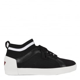 NOLITA Sock Trainers Black & White Stretch Mesh Knit