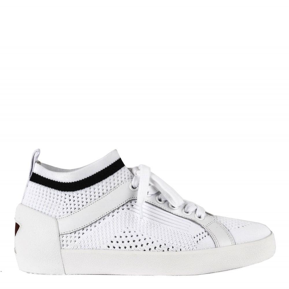 Ash Nolita White Mesh Knit Sneakers
