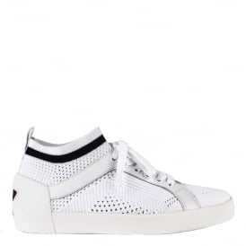 NOLITA Trainers White Stretch Mesh Knit
