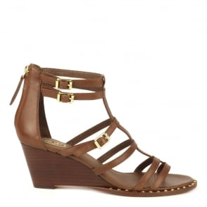 Ash NUBA BIS Wedge Sandals Cacao Leather